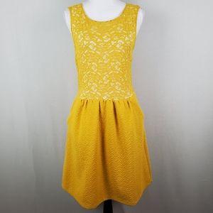 Anthro Maeve Dress Sleeveless Texture Lace